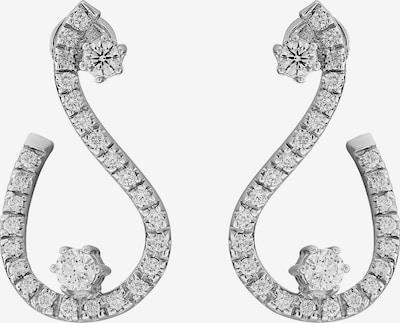 CHRIST Ohrhänger mit Diamanten in silber, Produktansicht