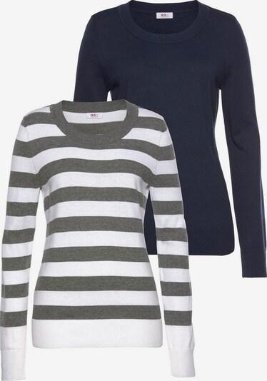 FLASHLIGHTS Pullover in nachtblau / grau / weiß, Produktansicht