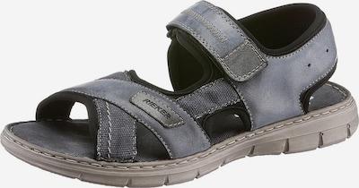 RIEKER Sandale in taubenblau / taupe / schwarz: Frontalansicht