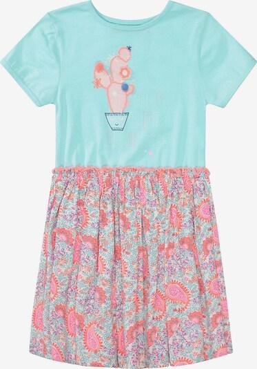 STACCATO Kleid in aqua / mischfarben / lachs, Produktansicht