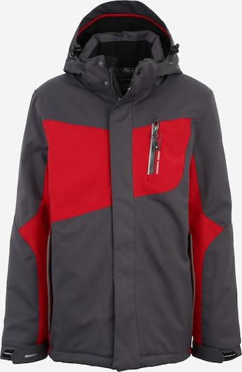 KILLTEC Skijacke 'LAYTO' in anthrazit / rot, Produktansicht