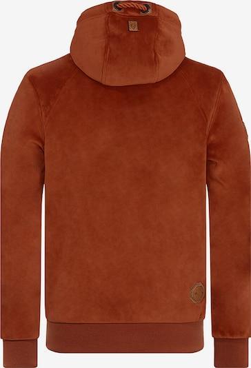 naketano Bluza polarowa 'Surviving Is A Spirit' w kolorze rdzawoczerwonym: Widok od tyłu