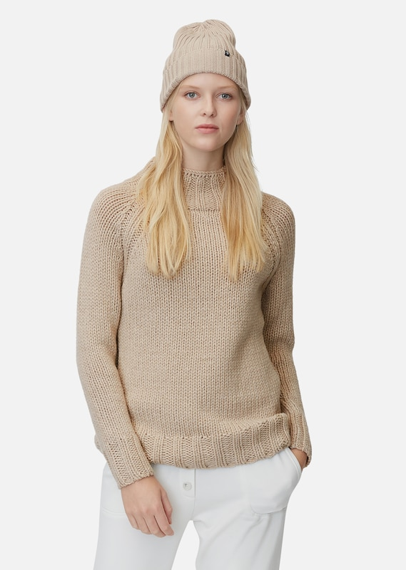 Marc O'Polo Pullover in dunkelbeige, Modelansicht