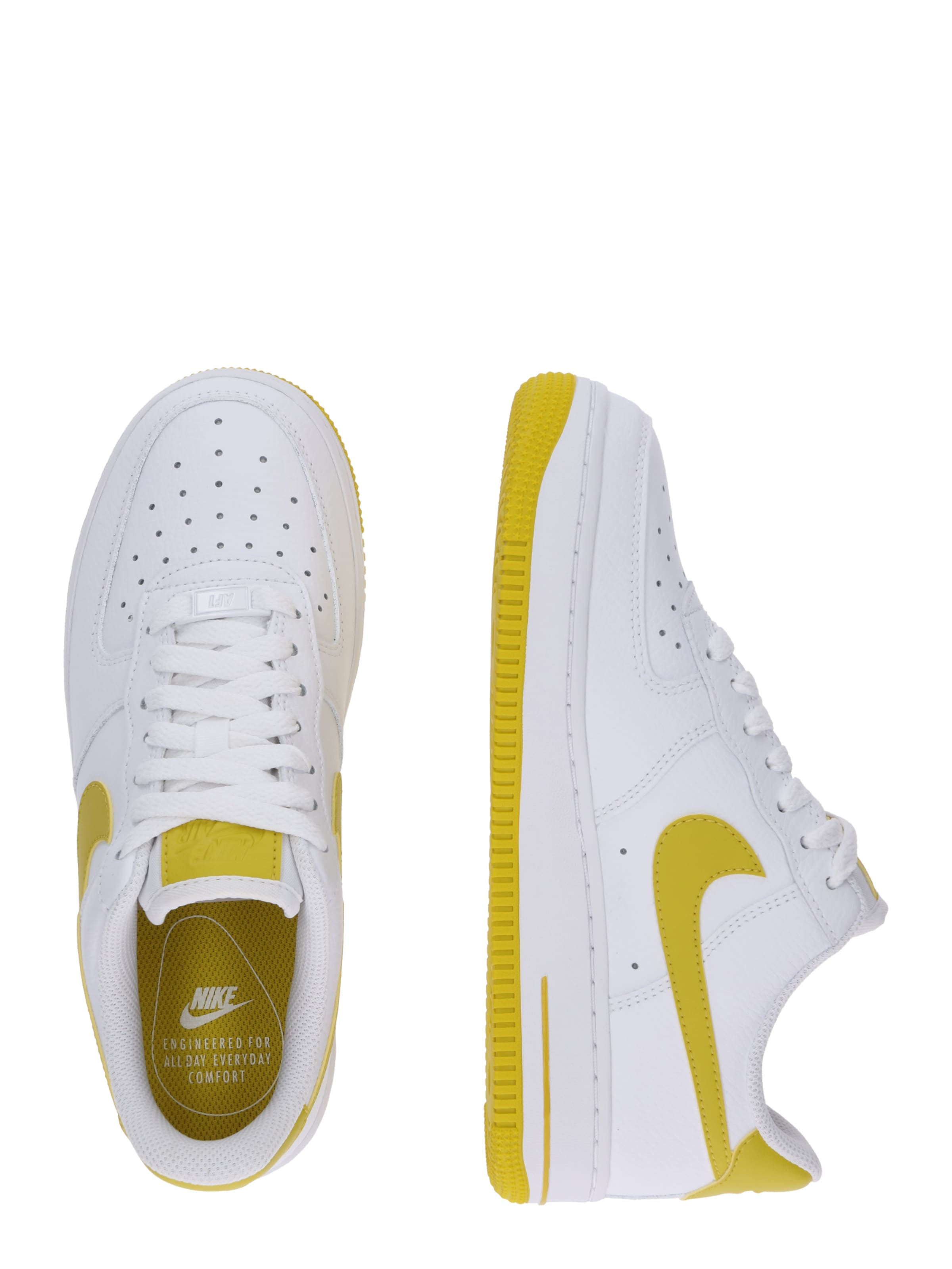 Sneaker Low In Nike 'air Force 1 '07' Sportswear GelbWeiß Ee29WIDHY