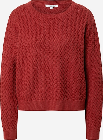 ABOUT YOU Pullover 'Layla' in rot / rostrot, Produktansicht