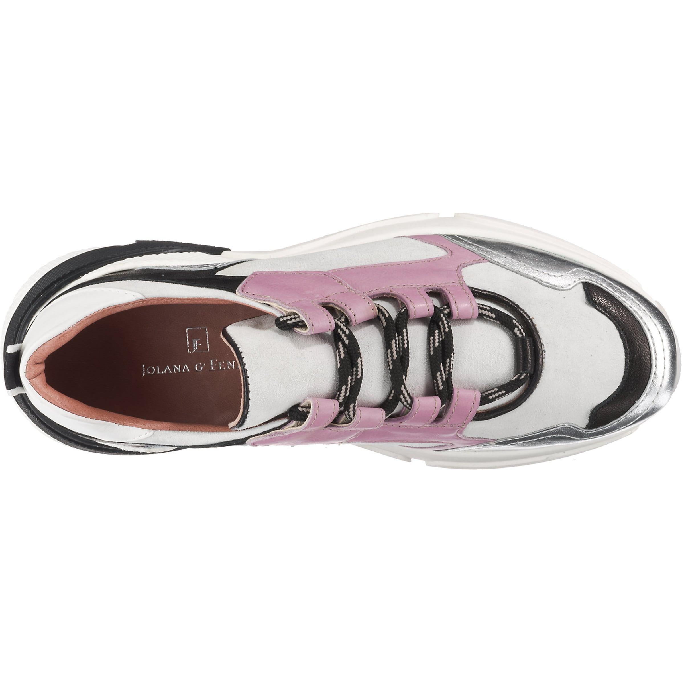 In Fenena Silber Sneakers Jolanaamp; Schwarz HellgrauHellpink 5LjSc3R4Aq