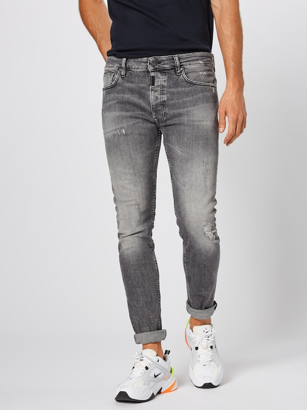 tigha Jeans 'Morten' in grey denim: Frontalansicht