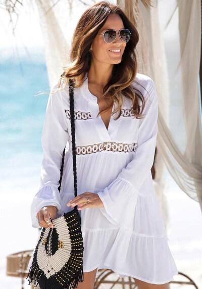 LASCANA Longbluse in weiß, Modelansicht