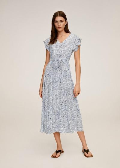 MANGO Kleid 'Lola' in blau / weiß, Modelansicht
