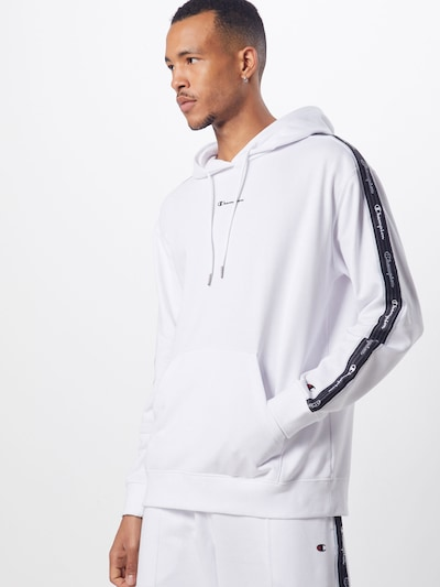 Champion Authentic Athletic Apparel Sweater majica u crna / bijela: Prednji pogled