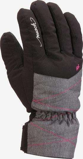 REUSCH Skihandschuhe 'Aimee' in graumeliert / pink / schwarz / weiß, Produktansicht