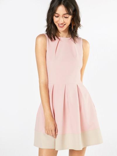 Closet London Robe fourreau en rose / blanc naturel, Vue avec modèle