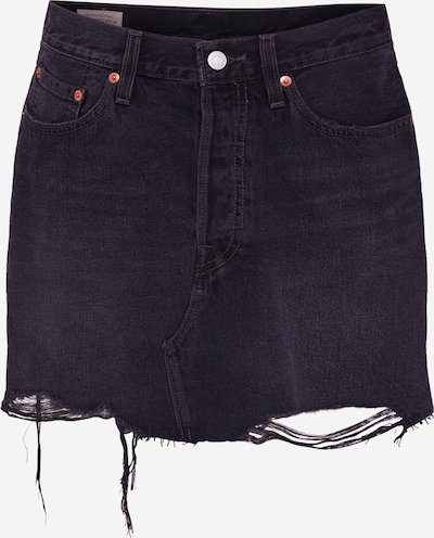 LEVI'S Rok 'Deconstructed' in de kleur Black denim, Productweergave