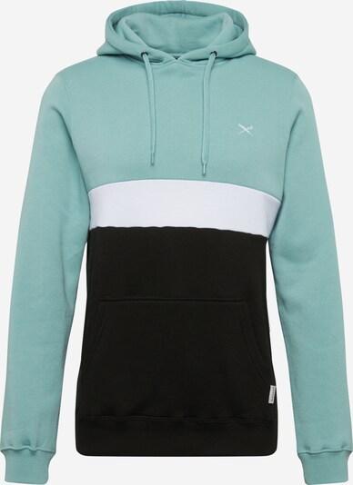 Iriedaily Sweatshirt in hellblau / schwarz / weiß, Produktansicht