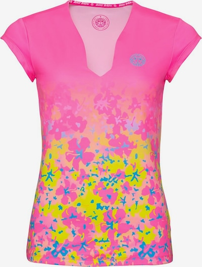 BIDI BADU T-Shirt 'Bella 2.0 Tech' in neonblau / gelb / pink, Produktansicht