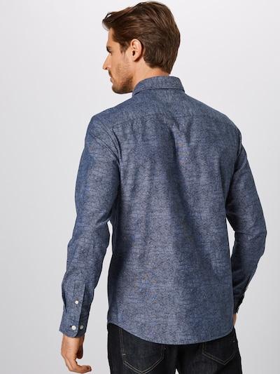 SELECTED HOMME Overhemd in de kleur Donkerblauw / Grijs: Achteraanzicht