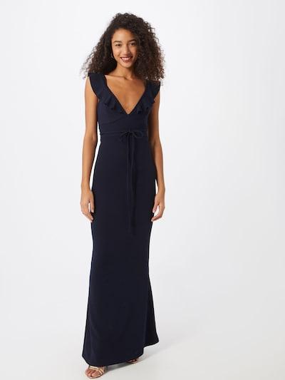 Missguided Společenské šaty 'FRILL' - tmavě modrá, Model/ka