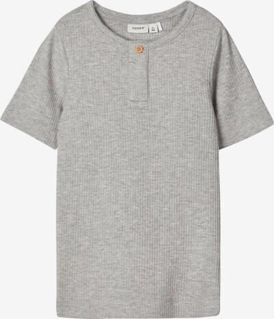NAME IT Slim Fit geripptes T-Shirt in grau, Produktansicht