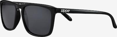 ZIPPO Sonnenbrille eckig 'slim Smoke Flash' in schwarz, Produktansicht