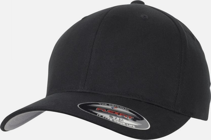 Flexfit Cap 'Brushed Twill' in schwarz, Produktansicht