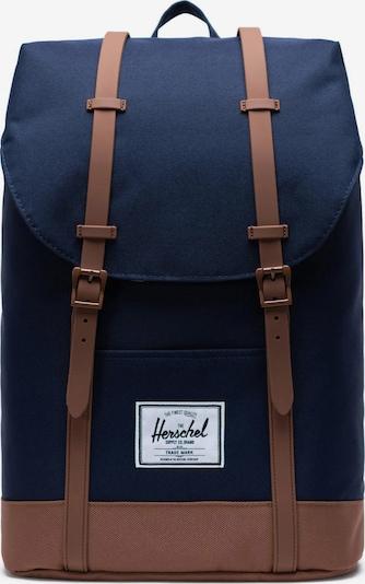 Herschel Sac à dos 'Retreat' en bleu / marron, Vue avec produit