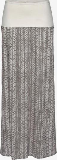 LASCANA Maxirock in sand / grau / weiß, Produktansicht