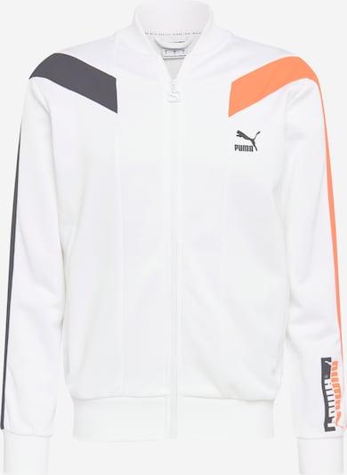 PUMA Sportsweatvest in de kleur Antraciet / Sinaasappel / Wit, Productweergave