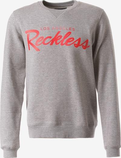 Young & Reckless Sweatshirt 'Big R Script Crew' in graumeliert, Produktansicht