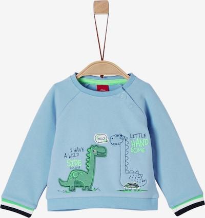 s.Oliver Junior Sweatshirt in hellblau / dunkelblau / grün: Frontalansicht