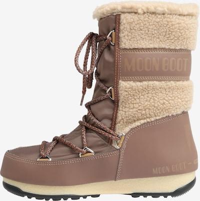 MOON BOOT Snowboots 'MOON BOOT MONACO WOOL' in beige / braun: Seitenansicht