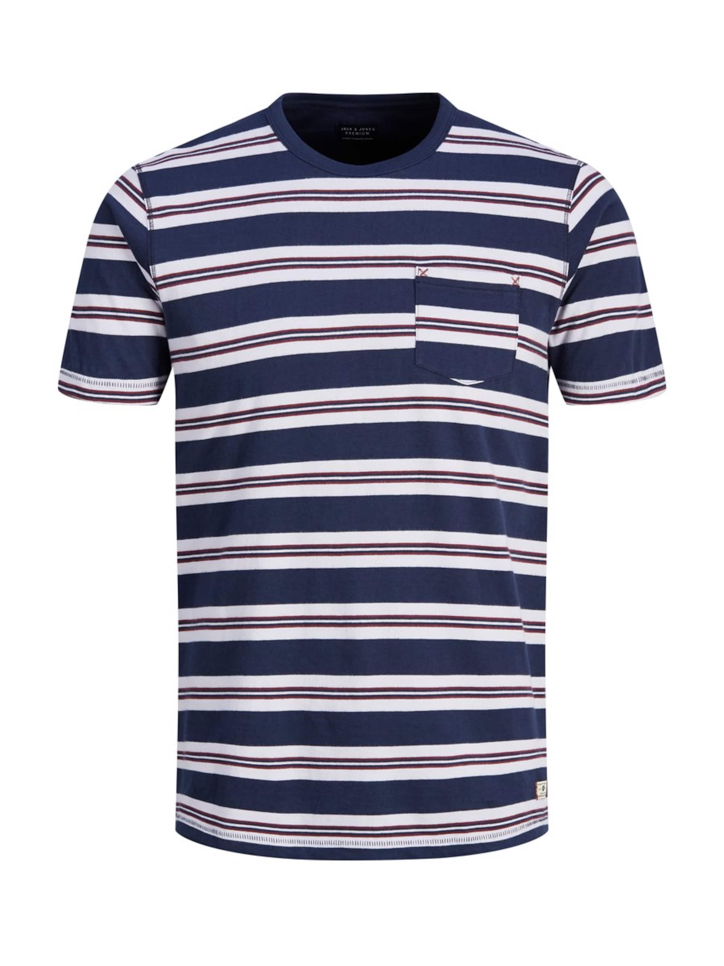 Jackamp; Jones Weiß In NavyRot T shirt b7yf6g