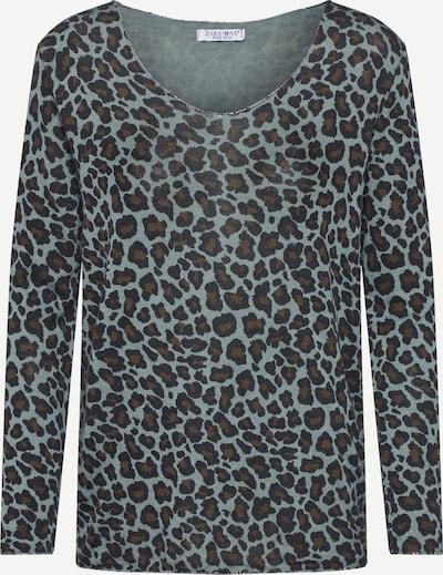 ZABAIONE Majica 'Helena' | rjava / meta / črna barva, Prikaz izdelka