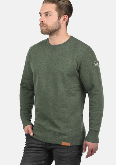 !Solid Sweatshirt 'Trip-O-Neck' in grün, Produktansicht