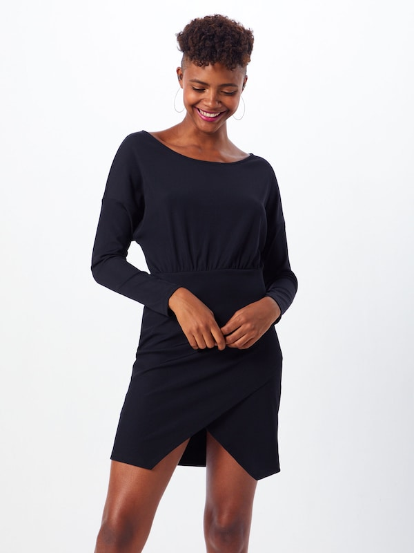 IVYREVEL Kleid 'RIB MINI DRESS' in schwarz: Frontalansicht