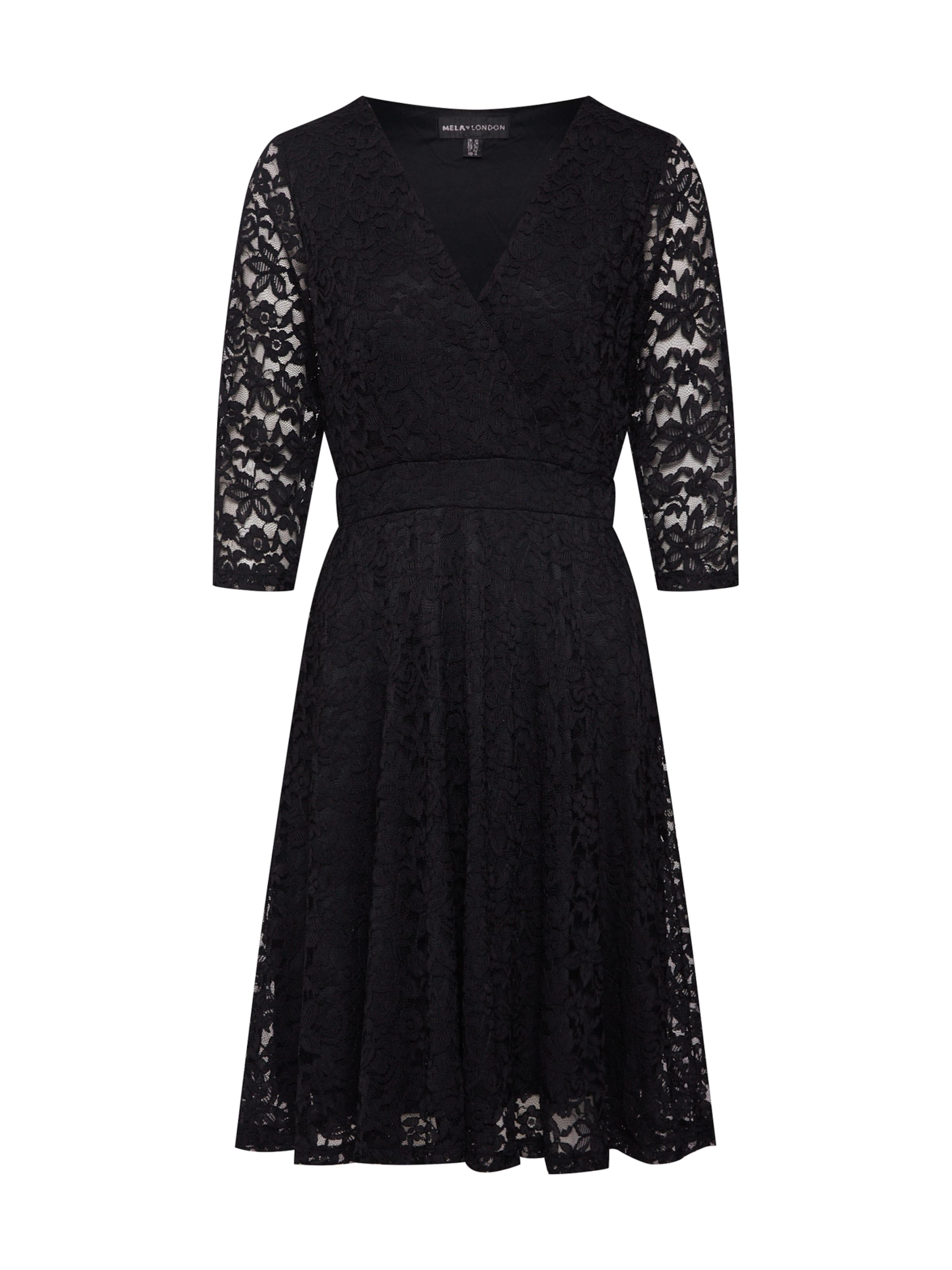 Mela London Robe de cocktail DELICATE LACE LONG SLEEVE DRESS en noir zKGxVu