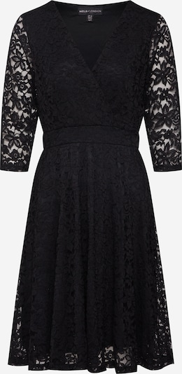Mela London Kleid 'DELICATE LACE LONG SLEEVE DRESS' in schwarz, Produktansicht