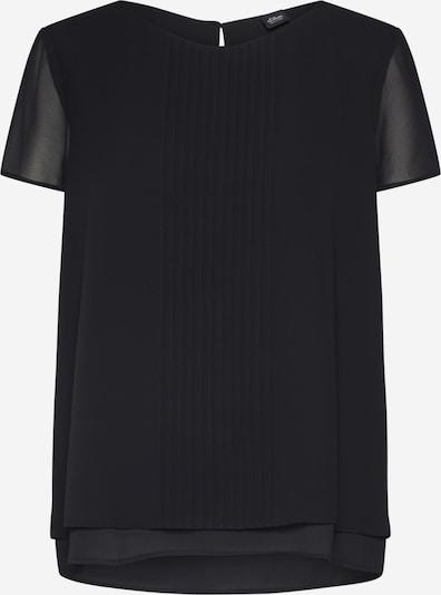 s.Oliver BLACK LABEL Bluse in schwarz, Produktansicht