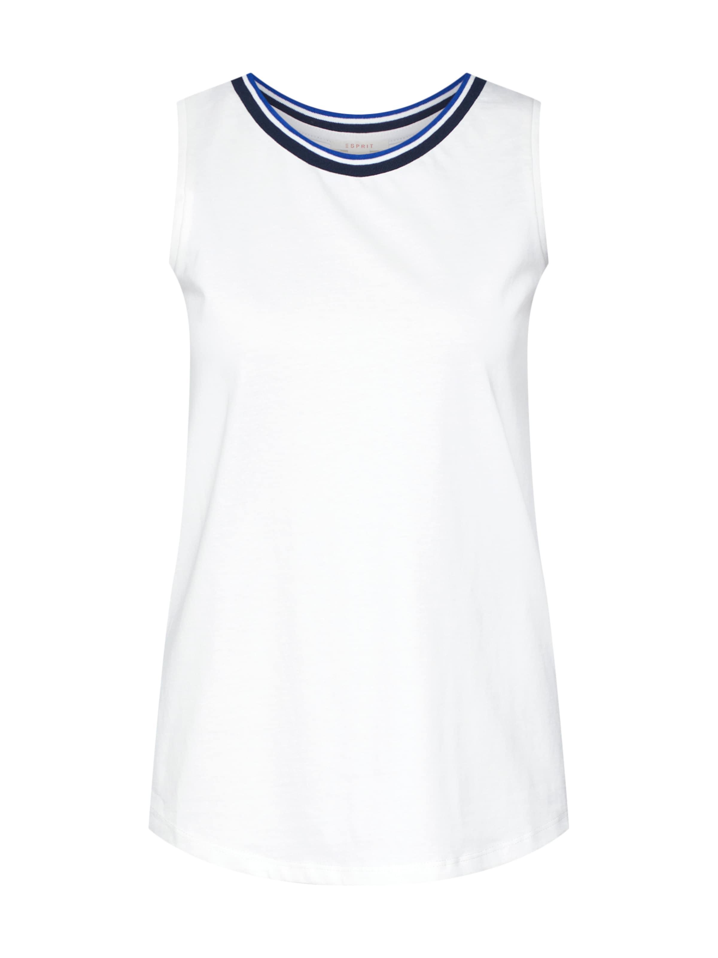 Esprit Blanc Bleu Haut 'tape' En Nuit Txw6fTrqP