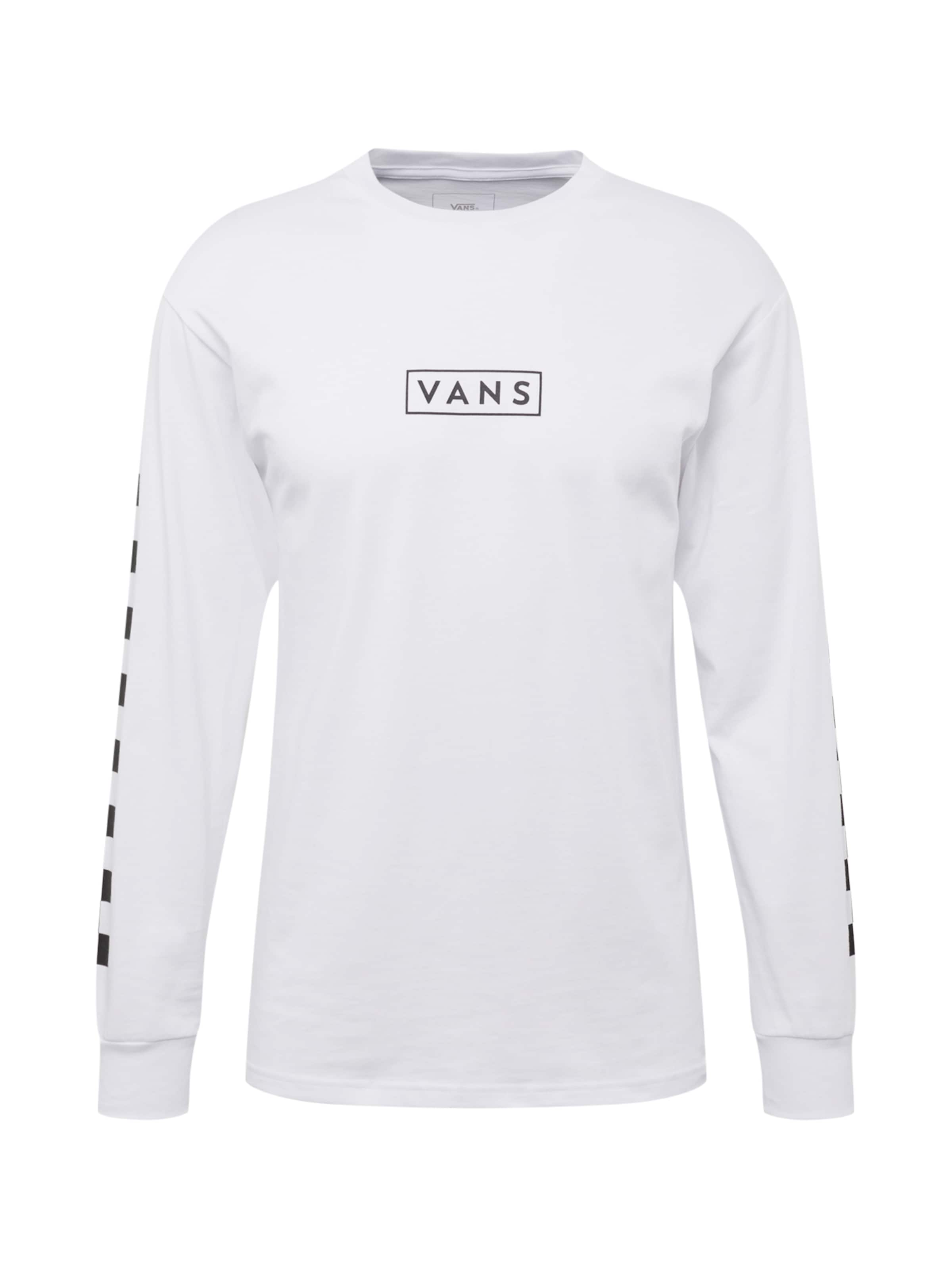 Shirt Vans Box 'easy Checker Ls' In SchwarzWeiß I7Y6gfyvb