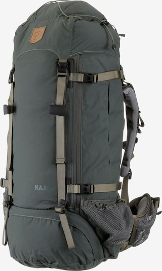 Fjällräven Trekkingrucksack 'Kajka 75' in khaki / dunkelgrün, Produktansicht