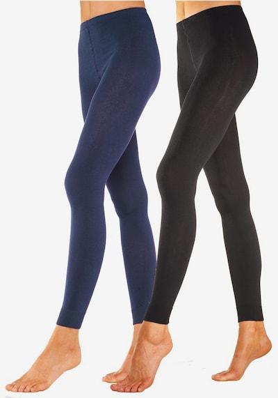 LAVANA Leggings in blau / schwarz, Modelansicht