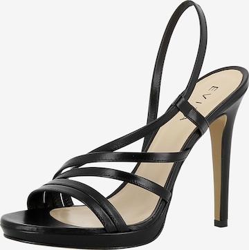 Sandales à lanières 'Eva' EVITA en noir