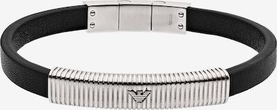 Emporio Armani Armband in schwarz / silber, Produktansicht