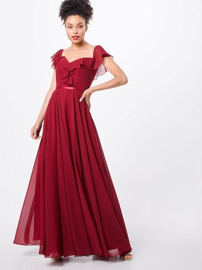 mascara Kleid 'FRILLED' in weinrot, Modelansicht