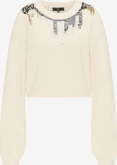 faina Pullover in beige / gold / silber, Produktansicht