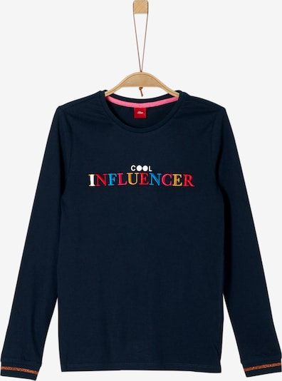 s.Oliver Junior Shirt in blau / navy / gelb / rot / weiß, Produktansicht