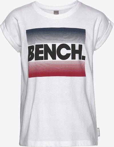 BENCH T-Shirt in rot / schwarz / weiß, Produktansicht