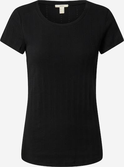 ESPRIT T-shirt 'Pointelle' en noir, Vue avec produit