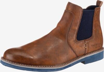 TOM TAILOR Chelsea Boots in nachtblau / braun, Produktansicht