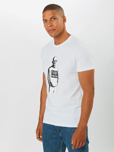 Iriedaily Koszulka 'Ghandi' w kolorze czarny / białym: Widok z przodu